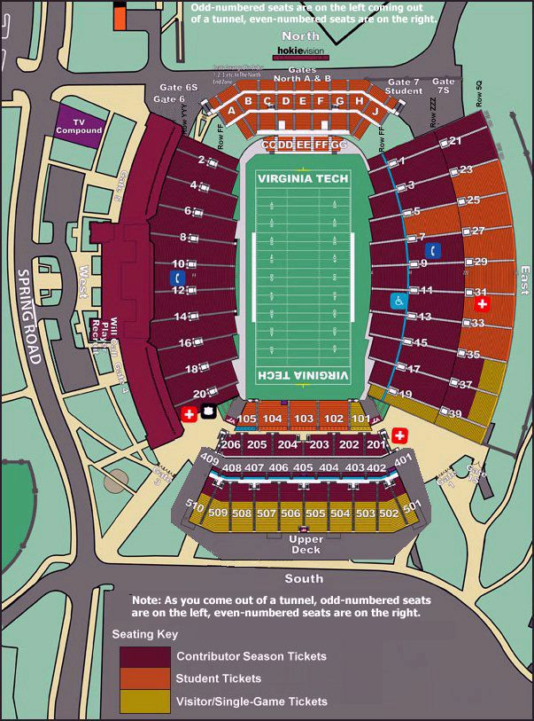 Click Here For A Seating Chart Updated After The 2005 Expansion